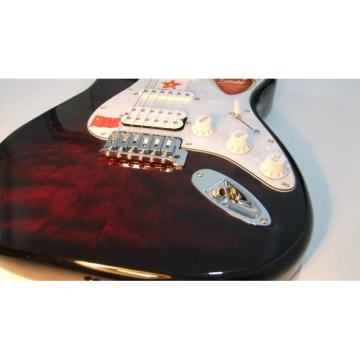 Custom Shop Stratocaster Red Wine Maple Top Japan Bridge Electric Guitar