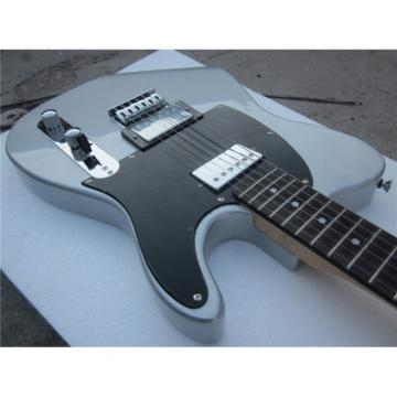 Custom Shop Silver Gray Telecaster Blacktop Electric Guitar
