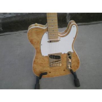 Custom Shop Standard Telecaster Poplar Burl Birdseye Green Led Light Electric Guitar