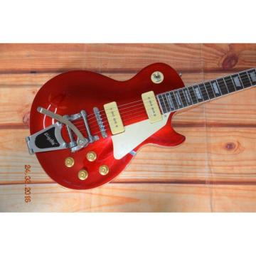 Custom Shop P90 Red Electric Guitar Bigsby Tremolo
