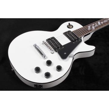 Custom Shop LP White Inlayed Fretboard Electric Guitar