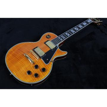 Custom Shop LP Faded Light Burst Maple Top Electric Guitar