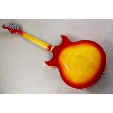 Custom Shop ES 295 Cherry Sunburst Semi Hollow LP Electric Guitar