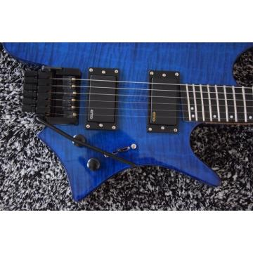 Custom Shop Fanned Frets Steinberger Blue Headless Electric Guitar