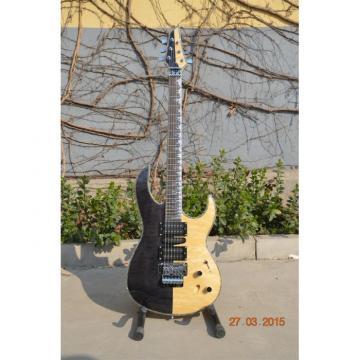 Custom Shop Half Black Half Natural Wood 6 String Electric Guitar