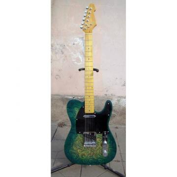 Custom Shop Green Paisley Design Telecaster Electric Guitar Floral
