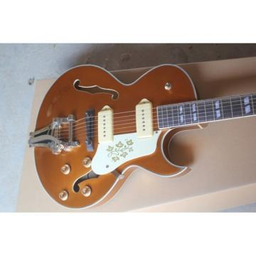 Custom Shop ES-125 Archtop P90 Goldtop Electric Guitar Bigsby Tremolo