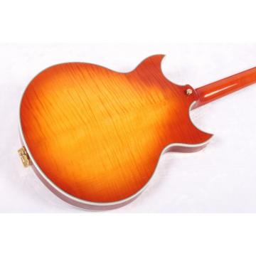 Custom Shop ES Iced Tea Semi Hollow LP Electric Guitar Bigsby Johnny A