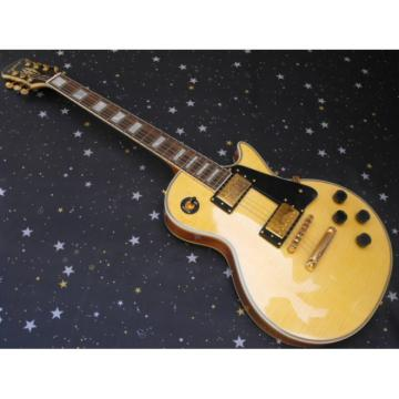 Custom Shop Cream Tiger Maple Top Epi LP Electric Guitar
