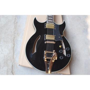 Custom Shop ES Black Semi Hollow LP Electric Guitar Bigsby Johnny A