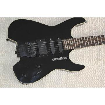 Custom Shop Black Steinberger 24 Fret No Headstock Electric Guitar