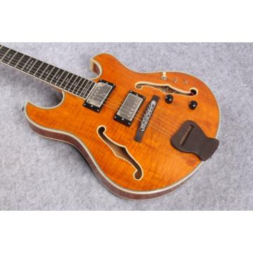 Custom Shop Amber Finish Tiger Maple Top Languedoc Electric Guitar