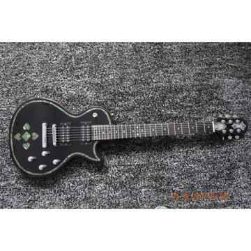 Custom Shop Black Abalone Spades Card Electric Guitar