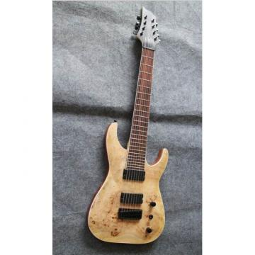 Custom Shop 8 String Natural Wood MAP Pattern Electric Guitar