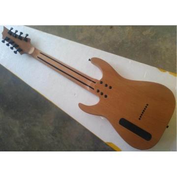 Custom Shop 8 String Natural Wood MAP Pattern Electric Guitar