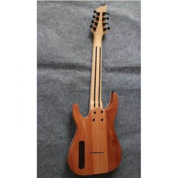 Custom Shop 8 String Natural Wood Mandshurica Pattern Electric Guitar