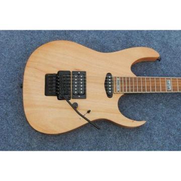 Custom Shop Black Machine 6 String Natural Black Wood Electric Guitar