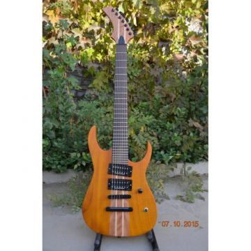 Custom Shop 7 String Honey Amber Finish Electric Guitar Black Machine