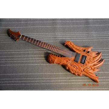 Custom Handmade 6 String Carved Dragon Electric Guitar