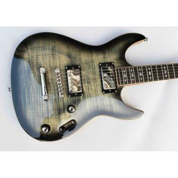 Custom Shop 6 String Tiger Maple Gray Top Framus Electric Guitar