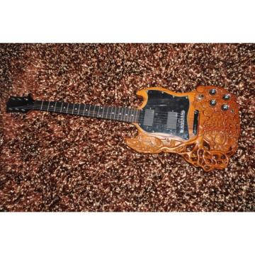 Custom Shop 6 String Dragon SG Electric Guitar Carvings