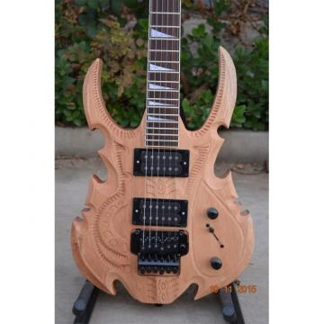 Custom Shop 6 String Hand Crafted Dragon Carved Natural Electric Guitar Carvings