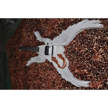 Custom Shop 6 String Angel White Electric Guitar Carvings Handmade