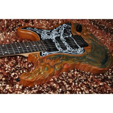 Custom Shop 6 String Dragon Carving Electric Guitar Stratocaster
