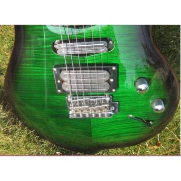 Custom Shop 6 String Green Tiger Maple Top Electric Guitar