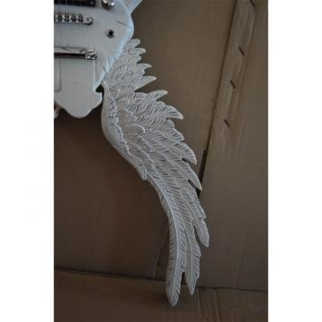 Custom Shop 6 String Angel Carved White Electric Guitar Carvings