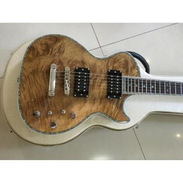 Custom Natural Maple Top Abalone Bindings and Inlays Electric Guitar