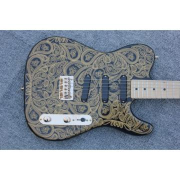 Custom Gold Paisley Design Telecaster Electric Guitar Floral James Burton