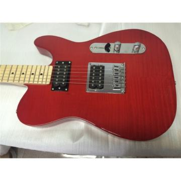 Custom Fender Telecaster Flame Maple Red Wine Electric Guitar