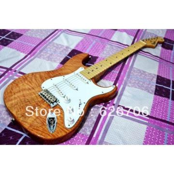 Custom Fender Natural Wood Stratocaster Electric Guitar
