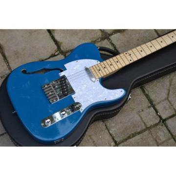 Custom Fender F Hole Whale Blue Telecaster Electric Guitar
