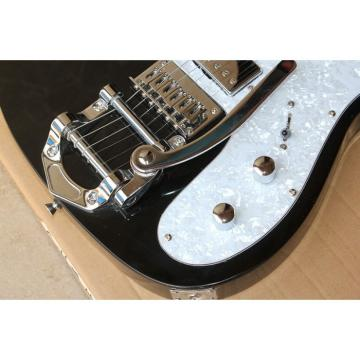 Custom Fender F Hole Black Bigsby Tremolo Telecaster Electric Guitar