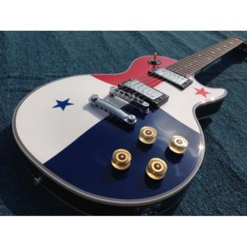 Custom Built National Flag 6 String Electric Guitar