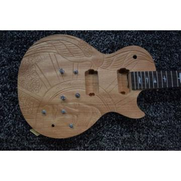 Custom Built Carved Hand Crafted Standard  LP 6 String Electric Guitar