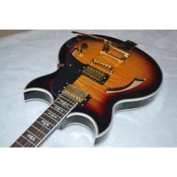 Custom ES Tobacco Burst Semi Hollow LP Electric Guitar Bigsby Johnny A