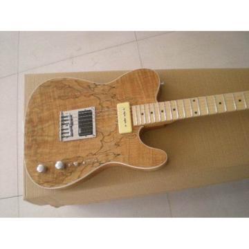Custom American Standard Telecaster Natural Veneer Wood Electric Guitar