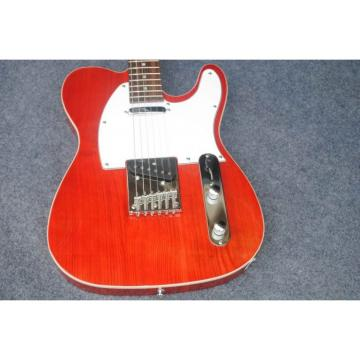 Custom American Telecaster Tiger Maple Top Red Electric Guitar