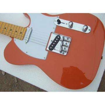 Custom American Telecaster Orange Electric Guitar