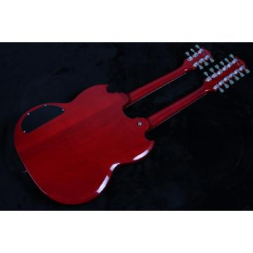 Custom Shop Jimmy Page Design SG Red EDS 1275 Double Neck Guitar