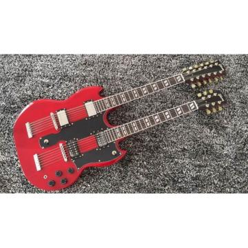 Custom Shop Jimmy Page SG Red EDS 1275 Double Neck Guitar