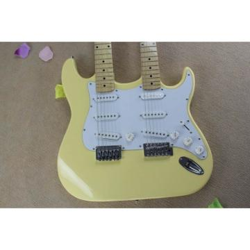 Custom Fender Stratocaster Vintage White Double Neck Guitar