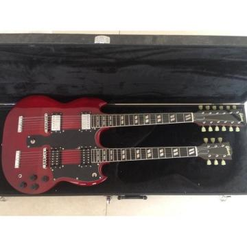 Custom Jimmy Page SG Wine Red EDS 1275 Double Neck Guitar