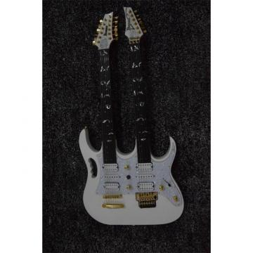 Custom JEM7V White Double Neck 6/12 Strings Guitar