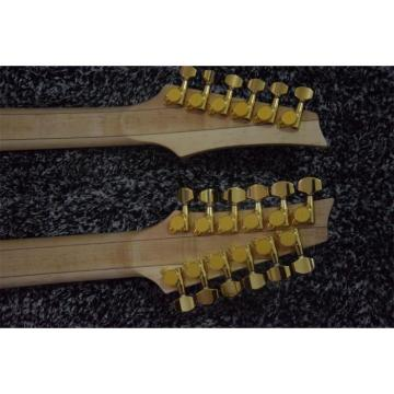 Custom JEM7V White Double Neck 6/12 Strings Guitar