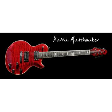 Custom Built XM Red Flame Maple Top Guitar