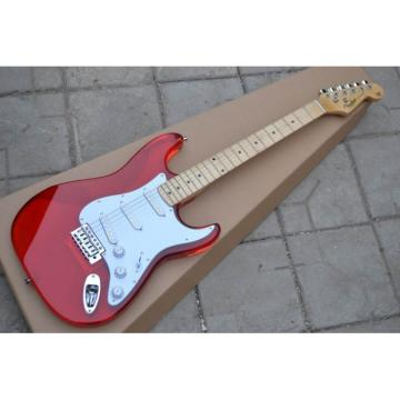 Plexiglas Lucite Jimmie Vaughan Fender Acrylic Red Stratocaster Guitar